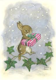 Molly Brett - Onderweg door de sneeuw met kerstcadeau