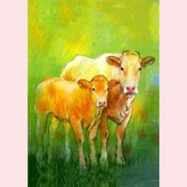 Loes Botman - Weet je wat de dieren zeggen 2 - Koe met kalfje