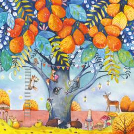 Kristiana Heinemann  - Dieren in herfstboom