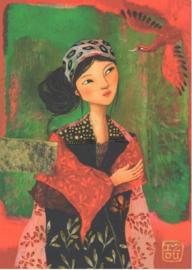 Editions des Correspondances : Lady and red bird door Izou
