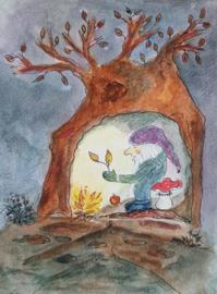 Regien Kos - Gnome in his cozy home