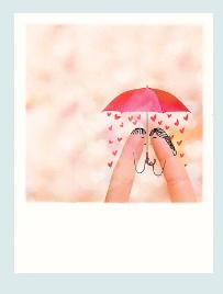PolaCard - Verliefd onder de paraplu
