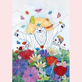 Ellen Uytewaal - Ijsbeer tussen de bloemen