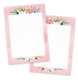 Little Lefty Lou - Pink Flower | Schrijfblok - Dubbelzijdig