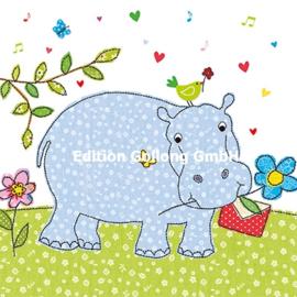 Carola Pabst - Nijlpaard met brief
