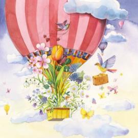 Kristiana Heinemann - Luchtballon met bloemen