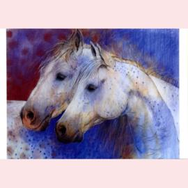 Loes Botman  - Twee paardenhoofden