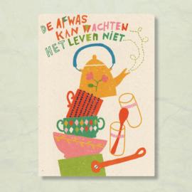 Claire van Heukelom - De afwas kan wachten..het leven niet