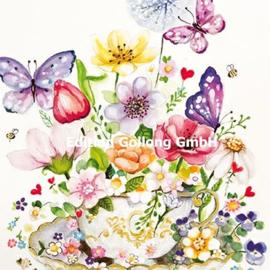 Sabina Comizzi - Bloemen en Vlinders