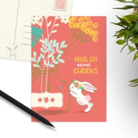 Studio Draak - 'Karakteristieke konijntjes' Vaas