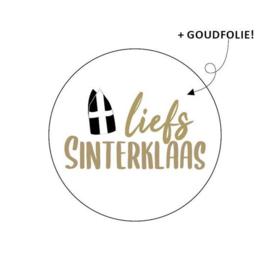 Sticker / Sluitsticker 'Liefs Sinterklaas' (Rond 40mm) 10 stuks €0,99