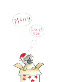 Madebymaggie - Merry X-Mas (Mops hond)