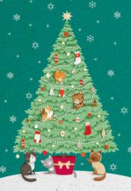 Advocate Art  - Katten spelen in de kerstboom
