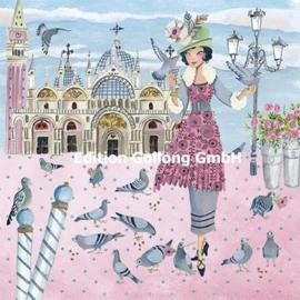 Cartita Design - Vrouw met duiven