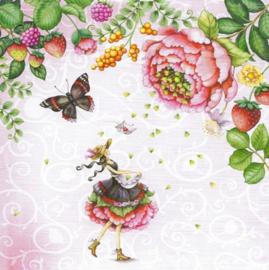 Nina Chen - Bloemen en vlinder