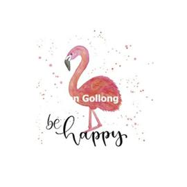 Letteritloud - Be Happy (Flamingo)