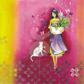 Kristiana Heinemann  - Cat & flowers