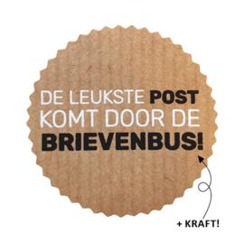 Sticker / Sluitsticker 'De leukste post komt door de brievenbus' (Rond 44mm) 10 stuks €0,99