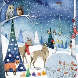 Kristiana Heinemann - Dieren in het kerst bos