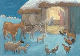 Molly Brett - Dieren kerststal
