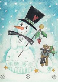 Inga Berkensträter - Sneeuwpop en haas