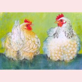 Loes Botman  - Twee kippen