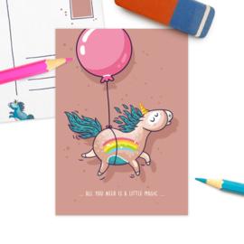 Studio Draak - 'Enige eenhoorn' Ballon