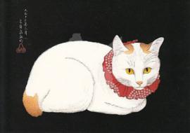 Takahashi Hiroaki - Kat met rode halsband