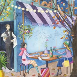 Kristiana Heinemann -  Cafe in de herfst