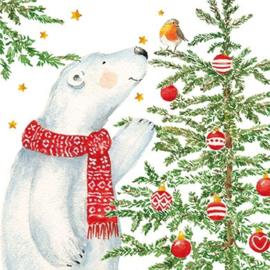 Carola Pabst -  Ijsbeer bij kerstboom