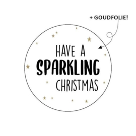 Sticker / Sluitsticker 'Have a sparkling christmas' (Rond 40mm) 10 stuks €0,99