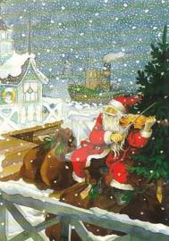 Inge Löök : Kerstman met viool  - NR 201