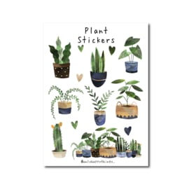 Stickervel Only Happy Things - Planten  A5