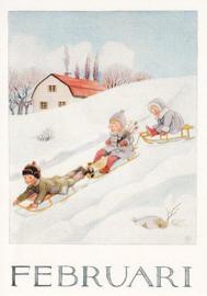 Elsa Beskow - Februari
