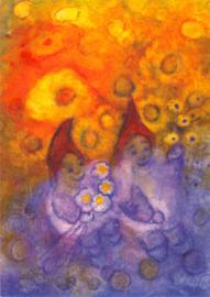 Jula Scholzen-Gnad - Kabouters tussen bloemen