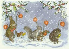 Molly Brett - Dieren kerst