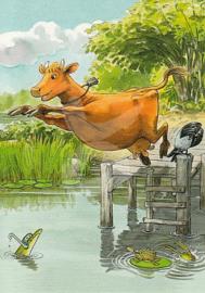 Julia Wieslander - Mama Muh springt in het water