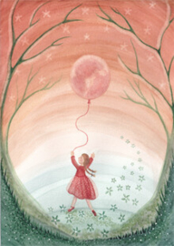 BijdeHansje - Girl with moon balloon