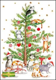Carola Pabst -  Kerstboom met katten