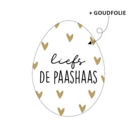 Sticker / Sluitsticker 'Liefs de paashaas' (34x45mm)  10 stuks €0,99