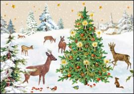 Carola Pabst - Kerstboom in de sneeuw