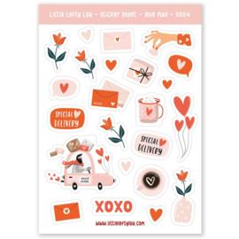 Stickervel  | Love (A6) Little Lefty Lou