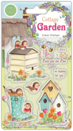 Craft Consortium - Cottage Garden Birds and the Bees - Clear Stamps