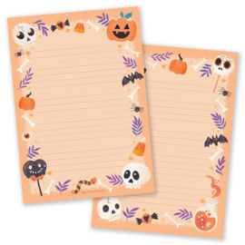 Little Lefty Lou - Halloween Orange | Schrijfblok - Dubbelzijdig