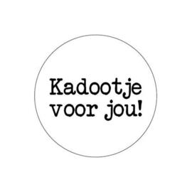 Sticker / Sluitsticker 'Kadootje voor jou!' (Rond 40mm) 10 stuks €0,99
