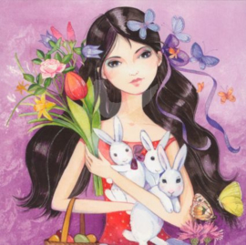 Kristiana Heinemann  - Konijntjes en bloemen