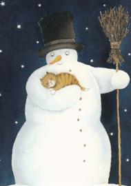 Catarina Kruusval - Sneeuwpop met kat