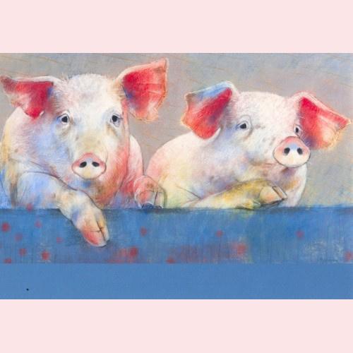 Loes Botman - Twee varkens