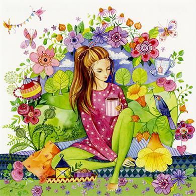 Kristiana Heinemann - Omgeven door bloemen