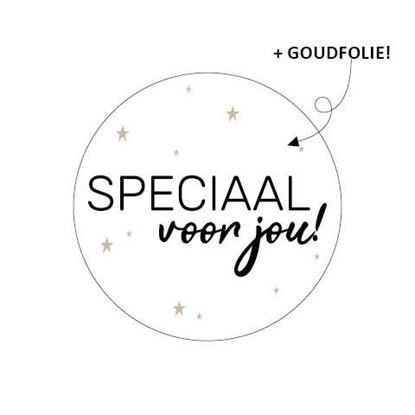 Sticker / Sluitsticker 'Speciaal voor jou!' (Rond 40mm) 10 stuks €0,99